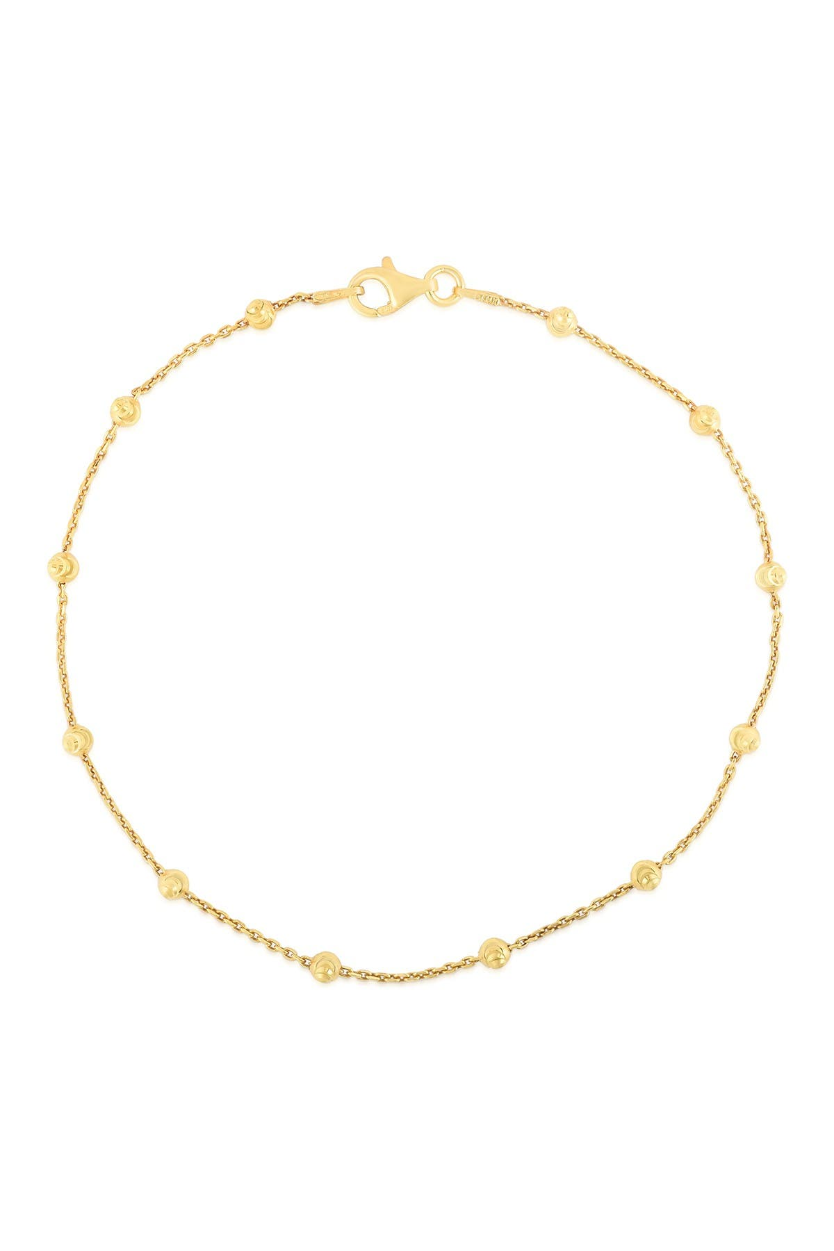 Image of Sphera Milano 14K Gold Plated Sterling Silver Chain Ankelet