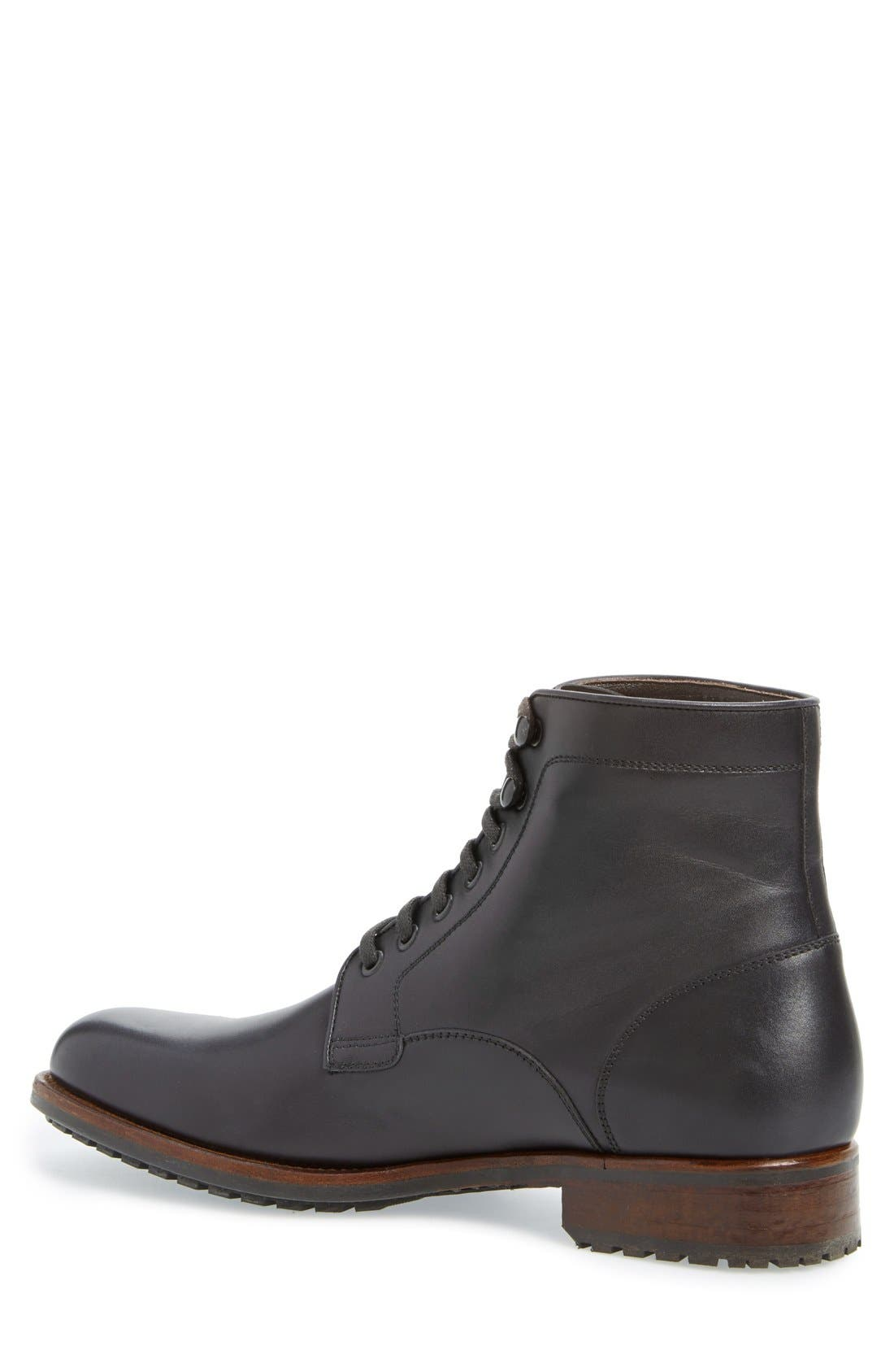 ,                             'Marcelo' Plain Toe Boot,                             Alternate thumbnail 3, color,                             001