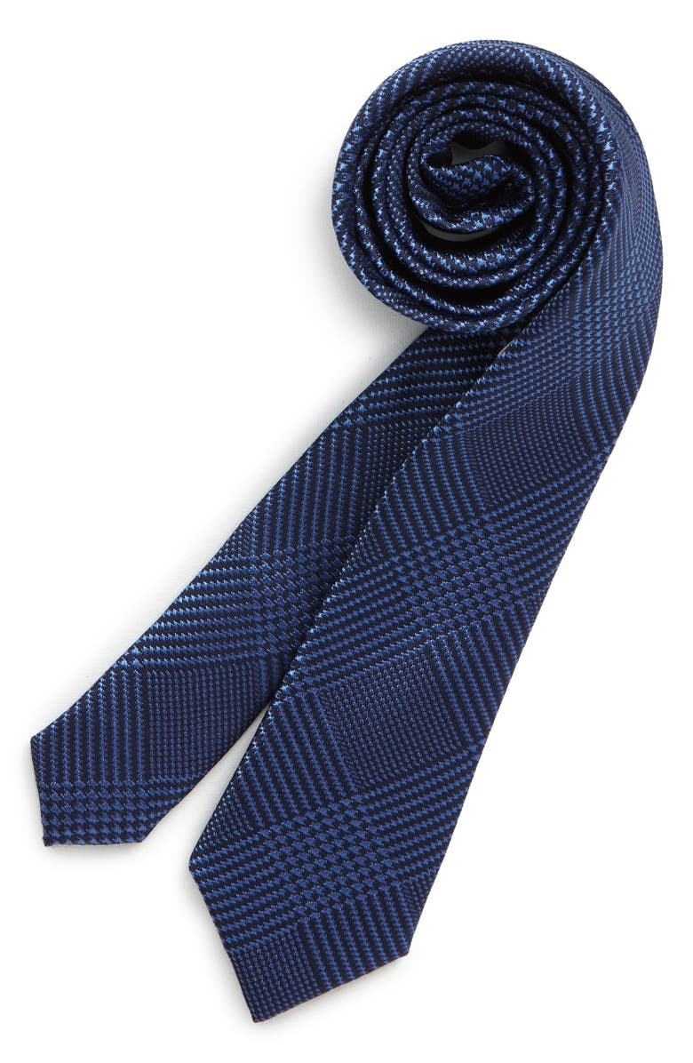 NORDSTROM Kyle Plaid Silk Tie, Main, color, BLUE