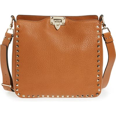 Valentino Garavani Vitello Rockstud Hobo - Brown