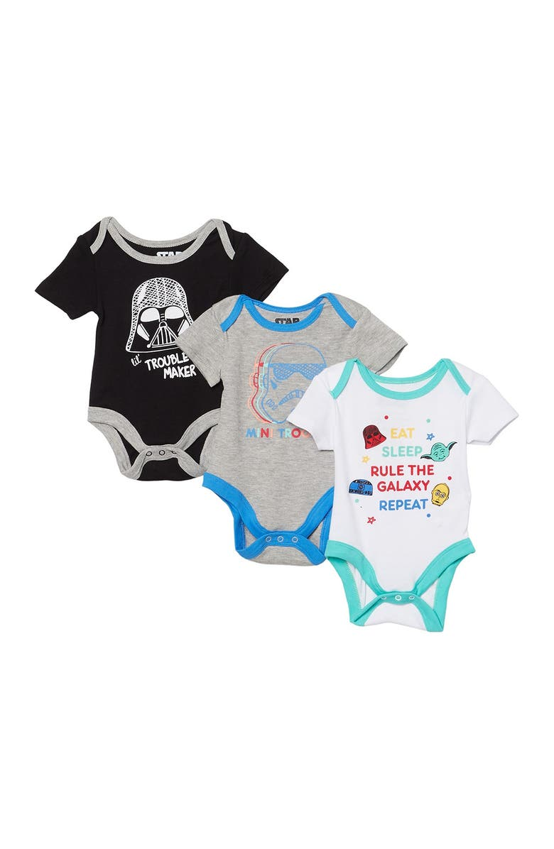 HAPPY THREADS Star Wars Bodysuits - Pack of 3, Main, color, MULTI
