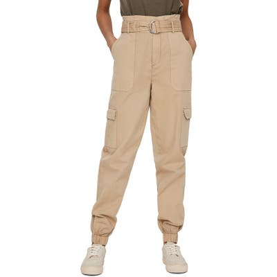 Vero Moda Flame Paperbag Cargo Pants, Beige
