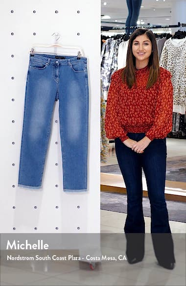 Fringe Hem Straight Leg Jeans, sales video thumbnail