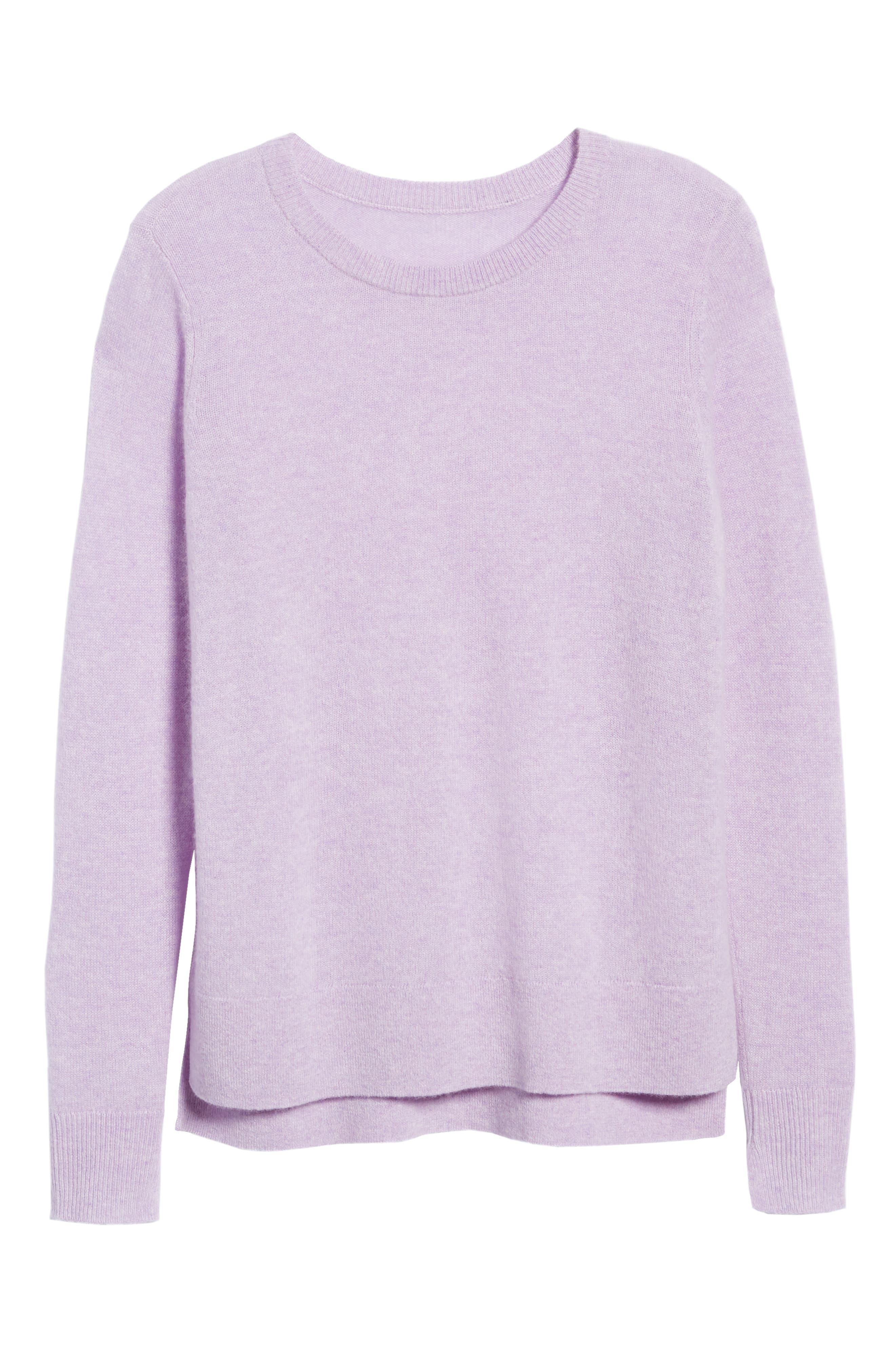 ,                             Crewneck Cashmere Sweater,                             Alternate thumbnail 129, color,                             500