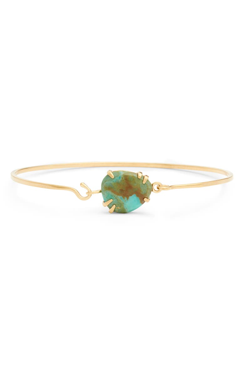 CHAN LUU Bangle Bracelet with Turquoise, Main, color, GREEN TURQUOISE