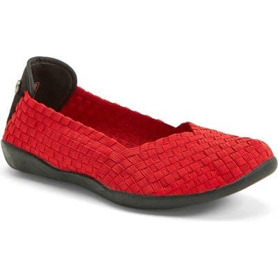 Bernie Mev. Catwalk Flat, Red