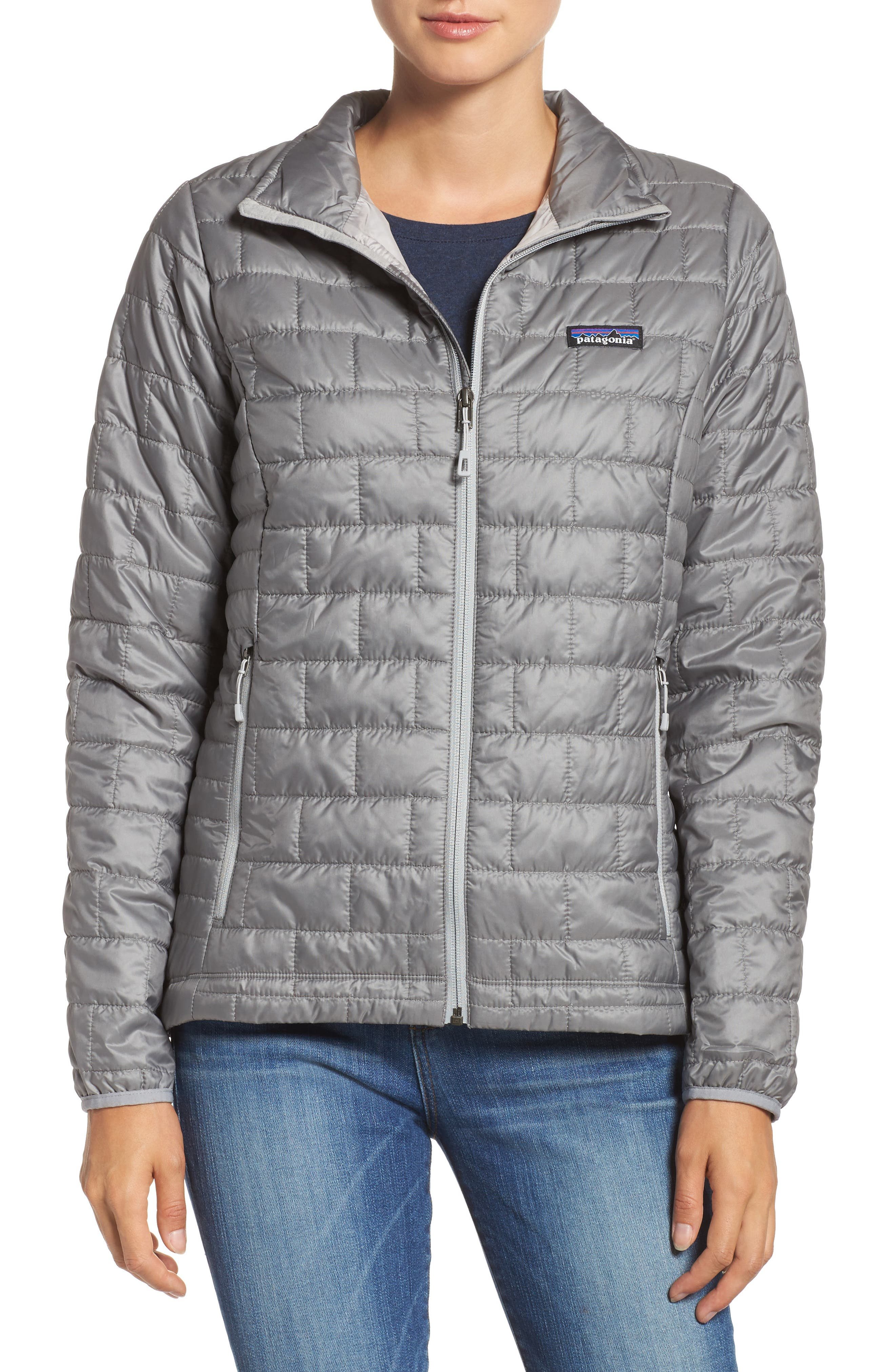 ,                             Nano Puff<sup>®</sup> Water Resistant Jacket,                             Main thumbnail 1, color,                             FEATHER GREY