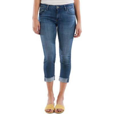 Kut From The Kloth Amy Crop Straight Leg Jeans, Blue