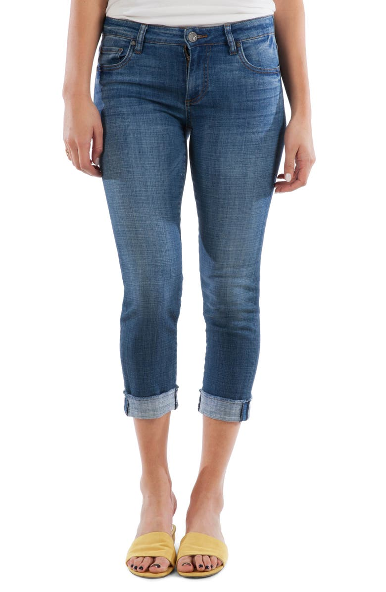 KUT FROM THE KLOTH Amy Crop Straight Leg Jeans, Main, color, ADAPTABLE