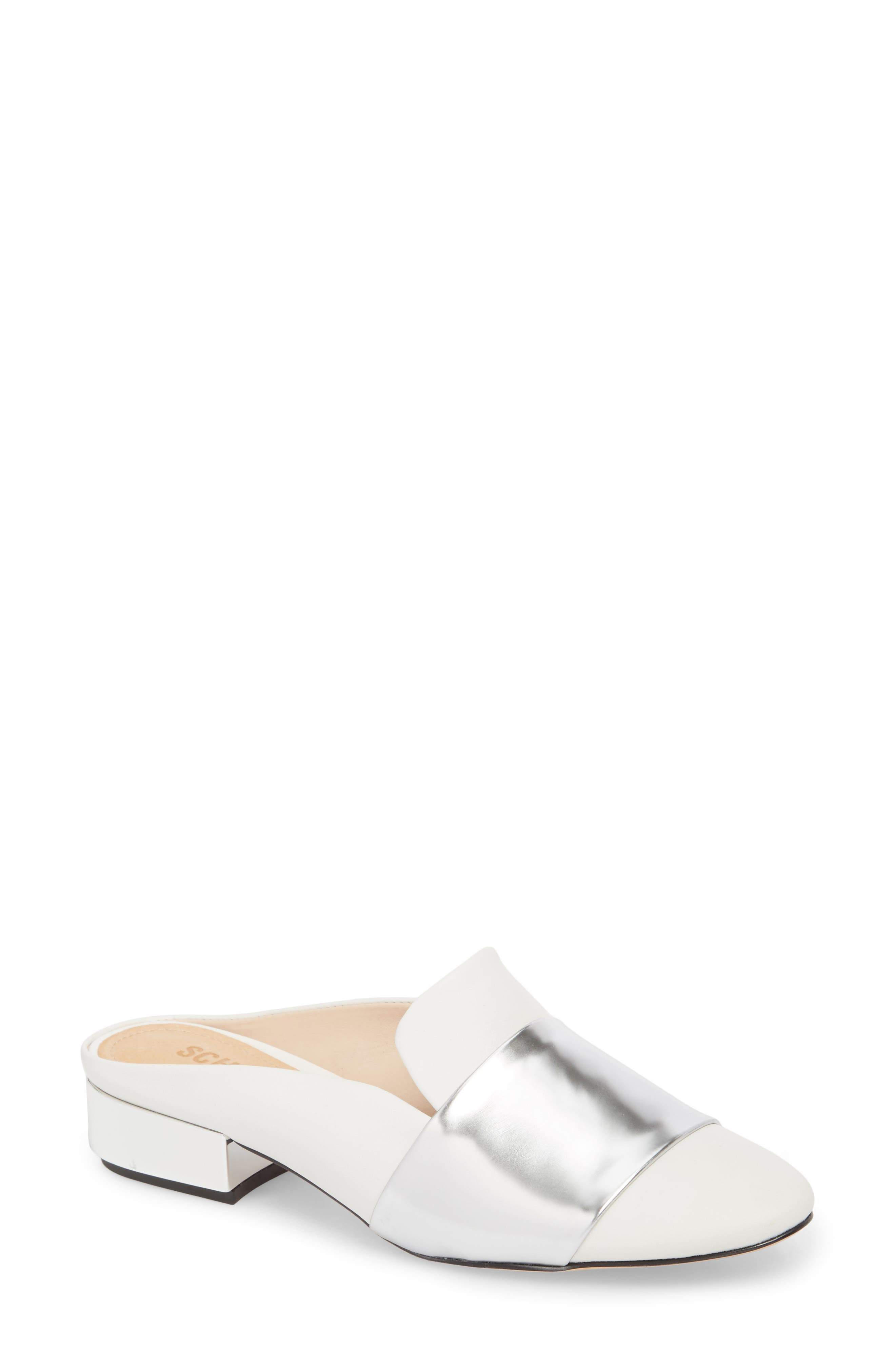,                             Eunice Mule,                             Main thumbnail 1, color,                             WHITE SUEDE