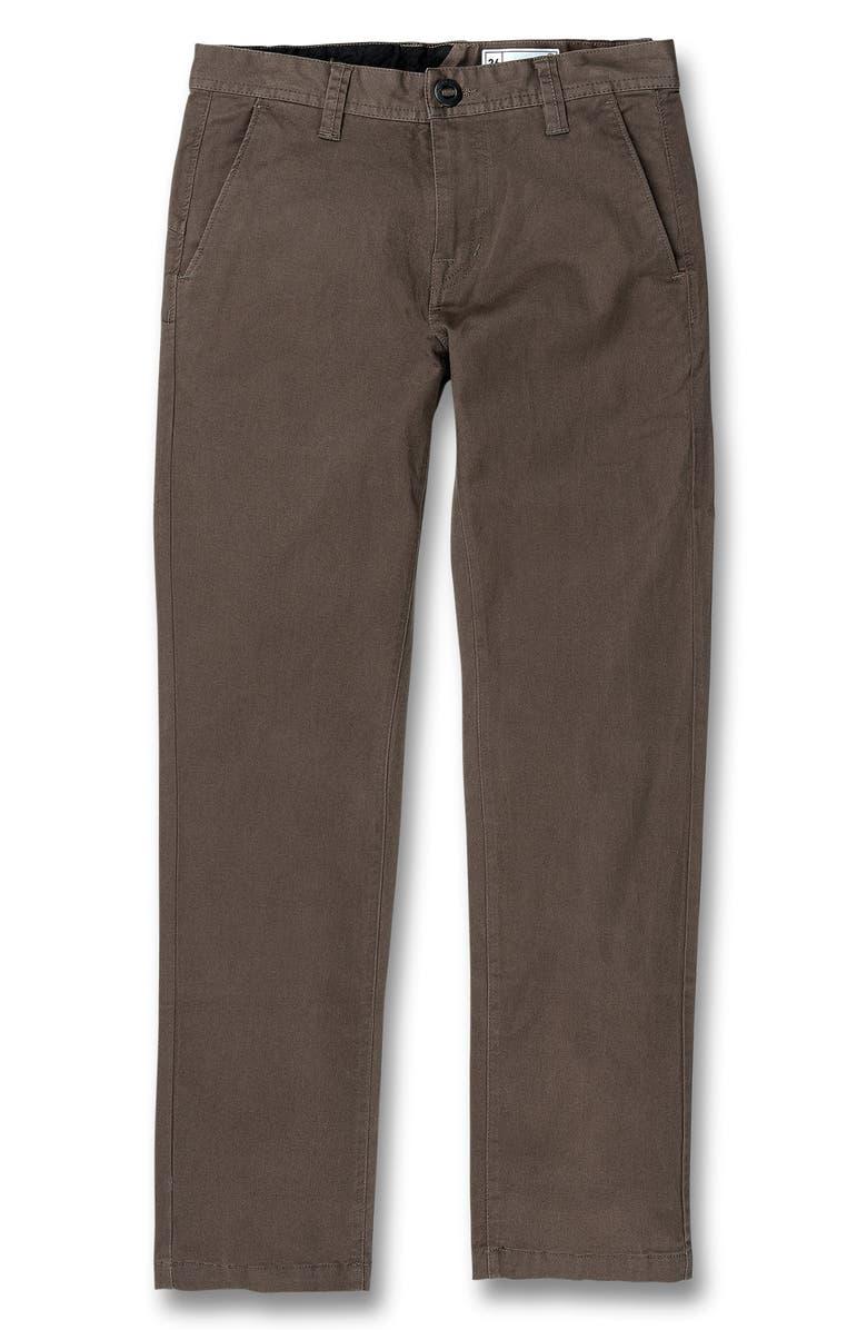 VOLCOM Slim Fit Stretch Chinos, Main, color, 200