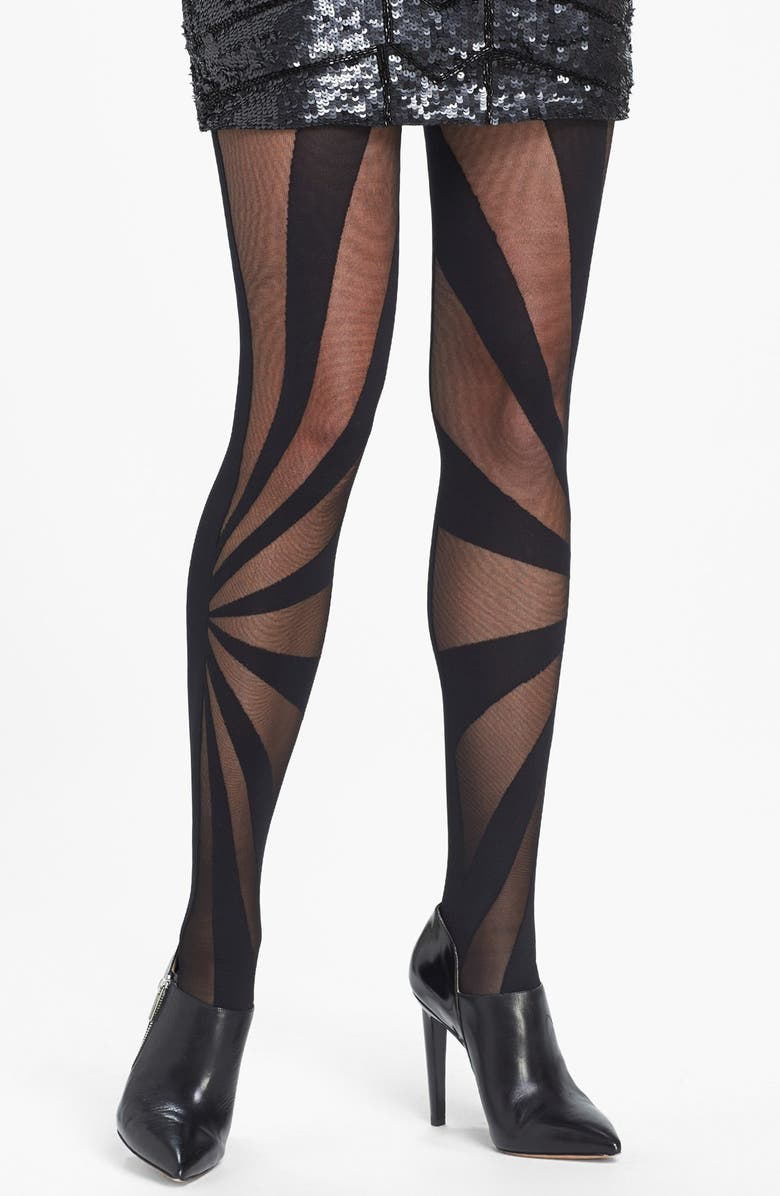 OROBLU 'Antea' Patterned Tights, Main, color, 001