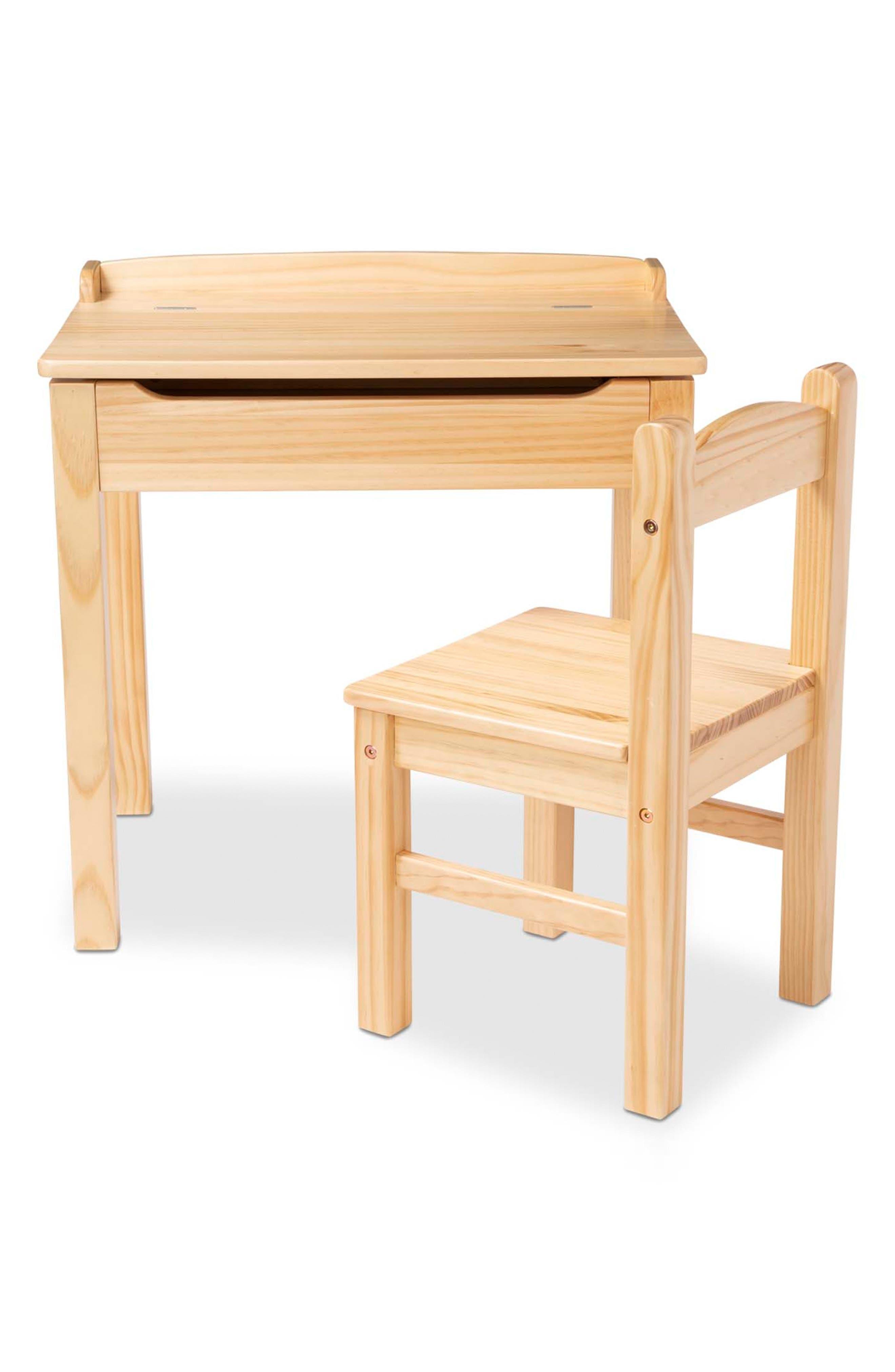 Melissa  Doug Wooden Lift Top Desk  Chair Set