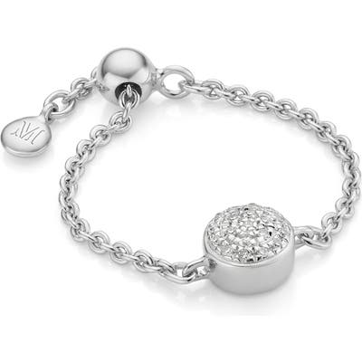 Monica Vinader Fiji Mini Button Adjustable Ring