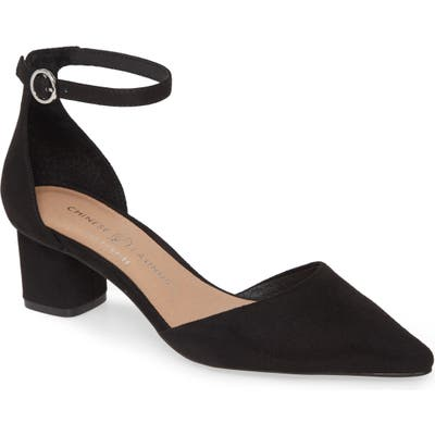 Chinese Laundry Harmony Ankle Strap Pump- Black