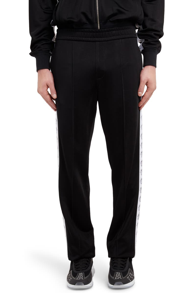 VERSACE FIRST LINE Versace Medusa Stripe Track Pants, Main, color, BLACK