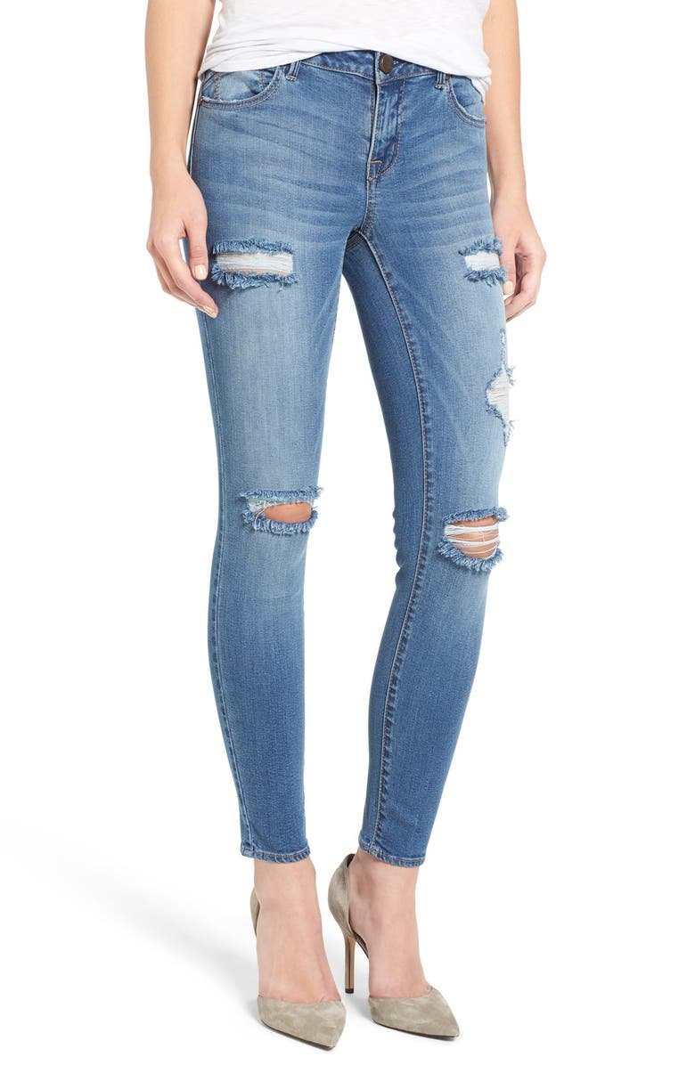 1822 DENIM 1822 Ripped Skinny Jeans, Main, color, 427