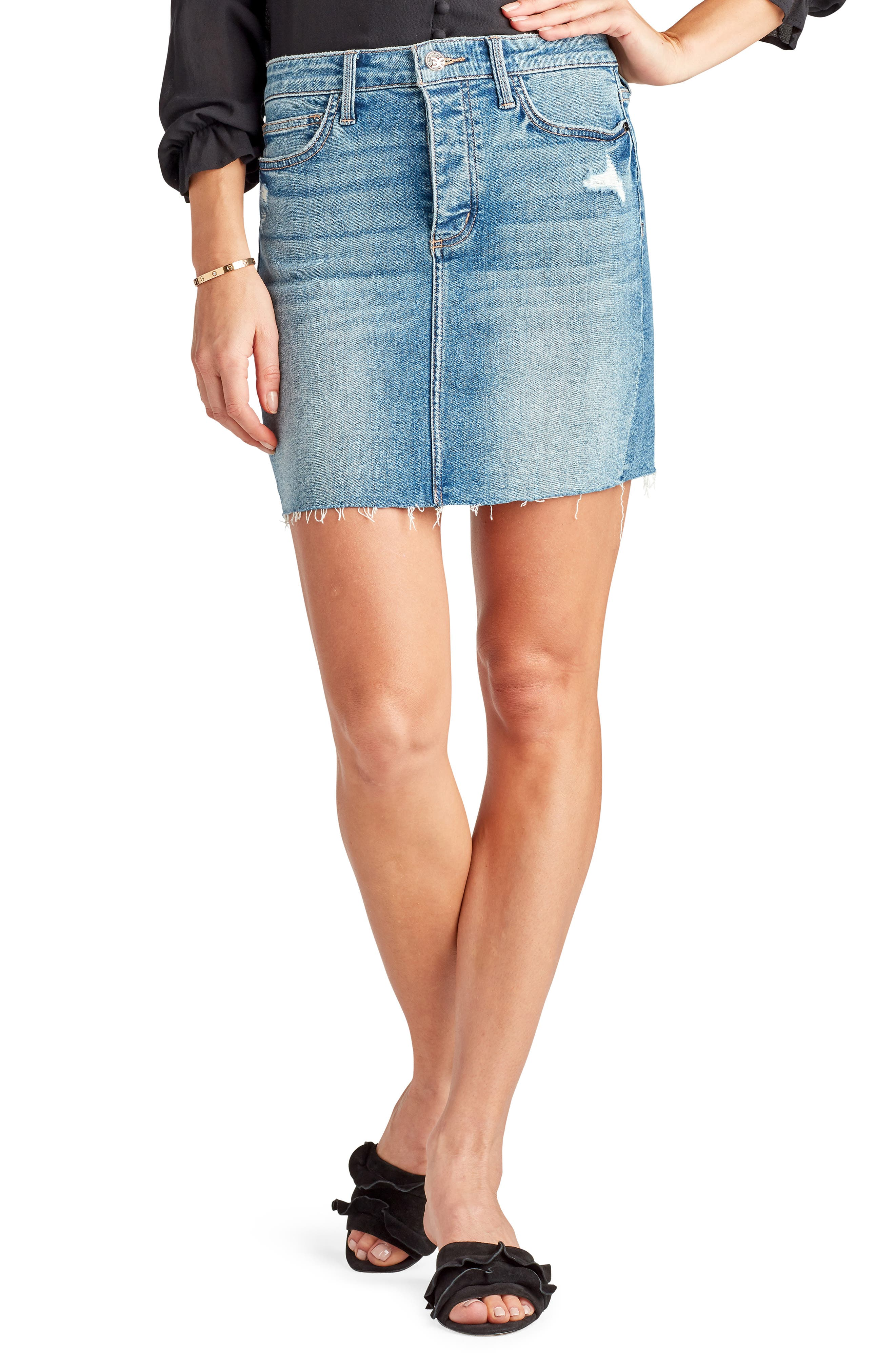 Image of Sam Edelman The Jenny Ripped Denim Skirt