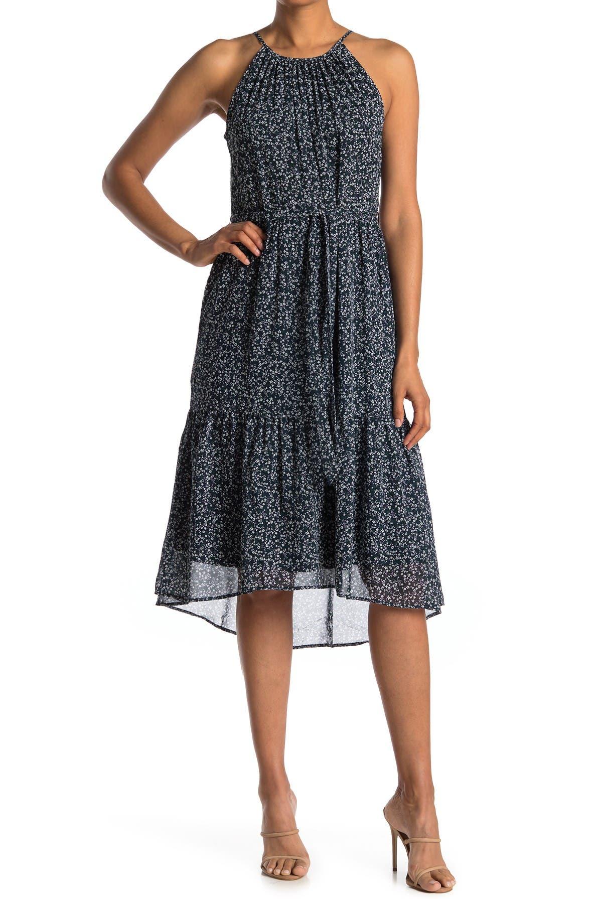 Image of DR2 by Daniel Rainn Floral Tiered Midi Dress