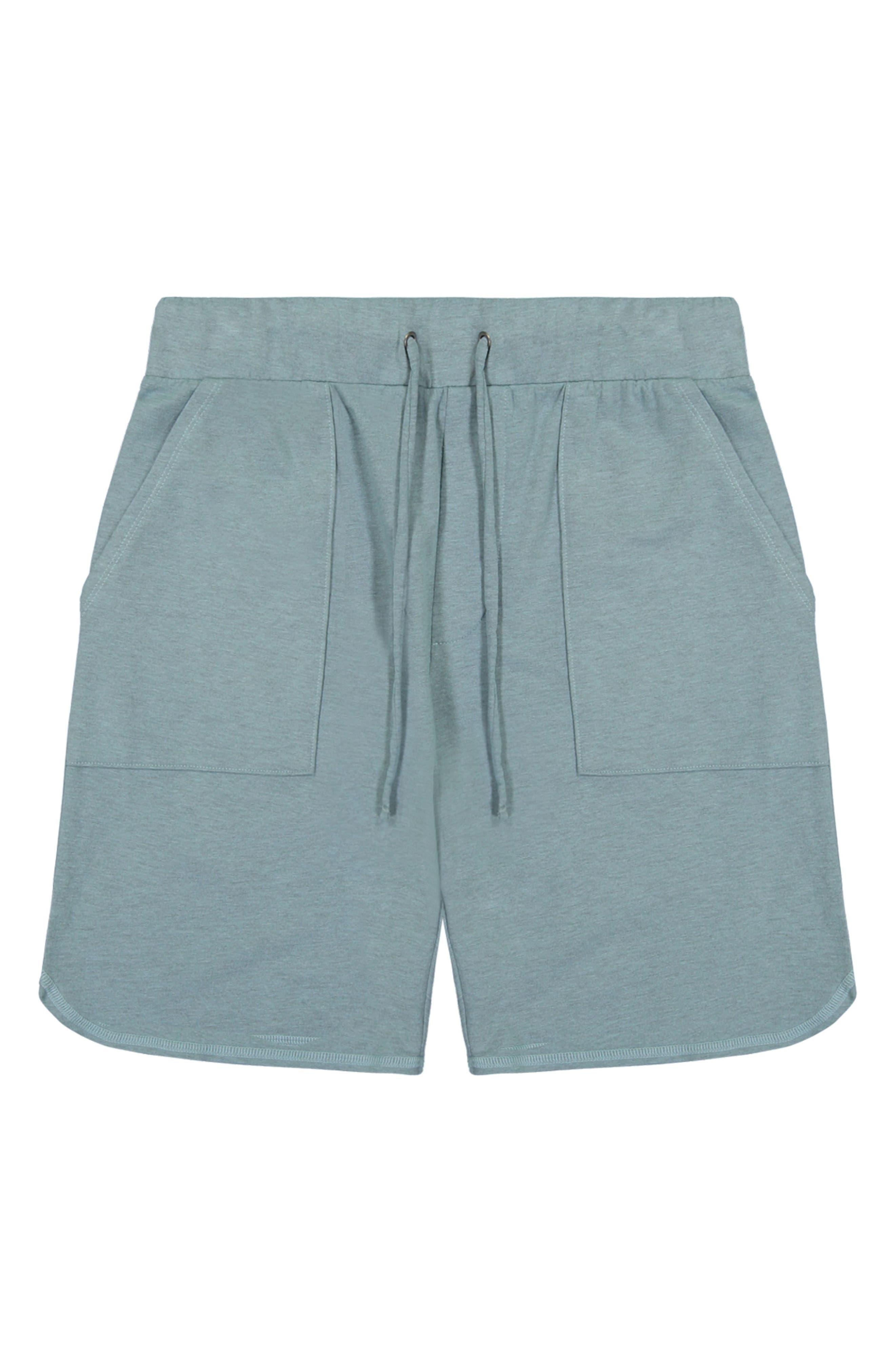 Men's Stretch Cotton Micro Terry Drawstring Shorts