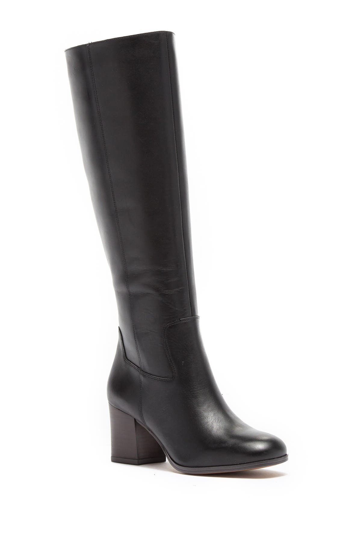 Image of Franco Sarto Anberlin Leather Block Heel Knee-High Boot