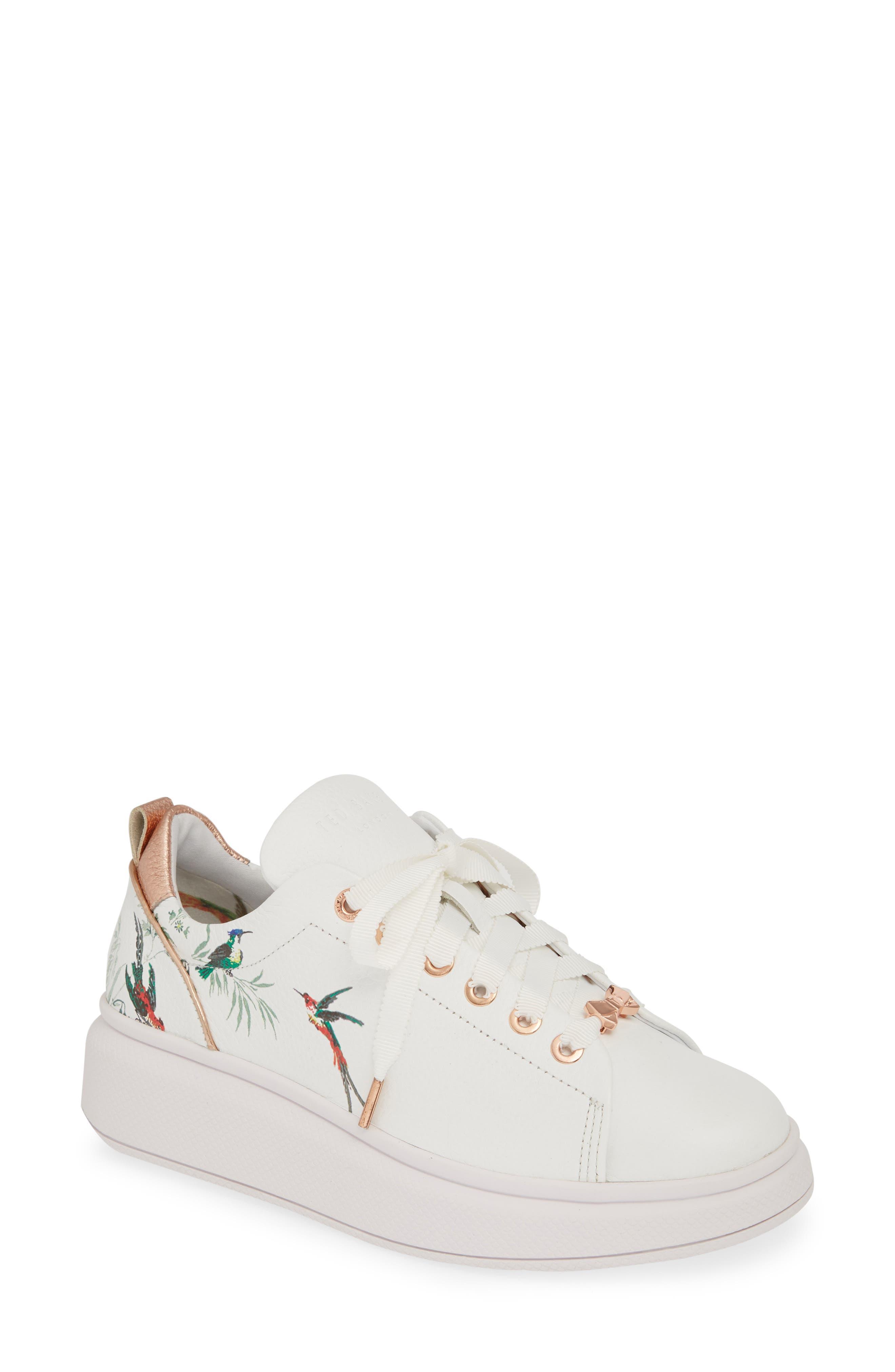 Ted Baker London Ailbe 4 Printed Sneaker, White
