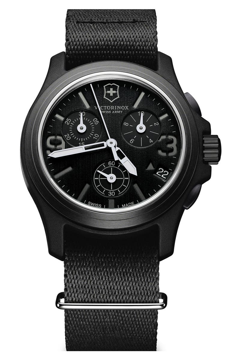 VICTORINOX SWISS ARMY<SUP>®</SUP> 'Original' Chronograph Watch, 40mm, Main, color, 001