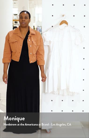 Leonie Eyelet Trim Trapeze Dress, sales video thumbnail