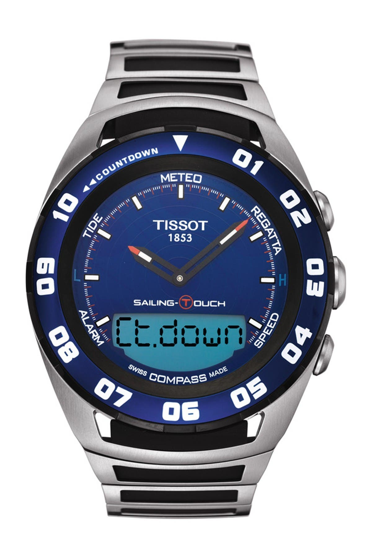 Image of Tissot Men's Sailing-Touch Bracelet Watch, 45mm