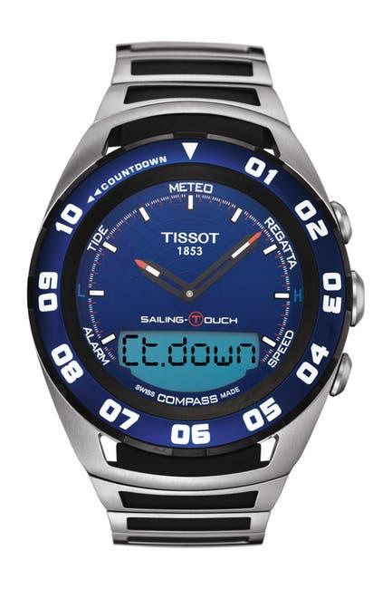 Image of Tissot Men's Sailing-Touch Bracelet Watch, 45mm