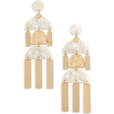 Ettika Geometric Bar Drop Earrings
