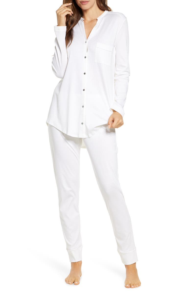 HANRO Pure Essence Pajamas, Main, color, WHITE