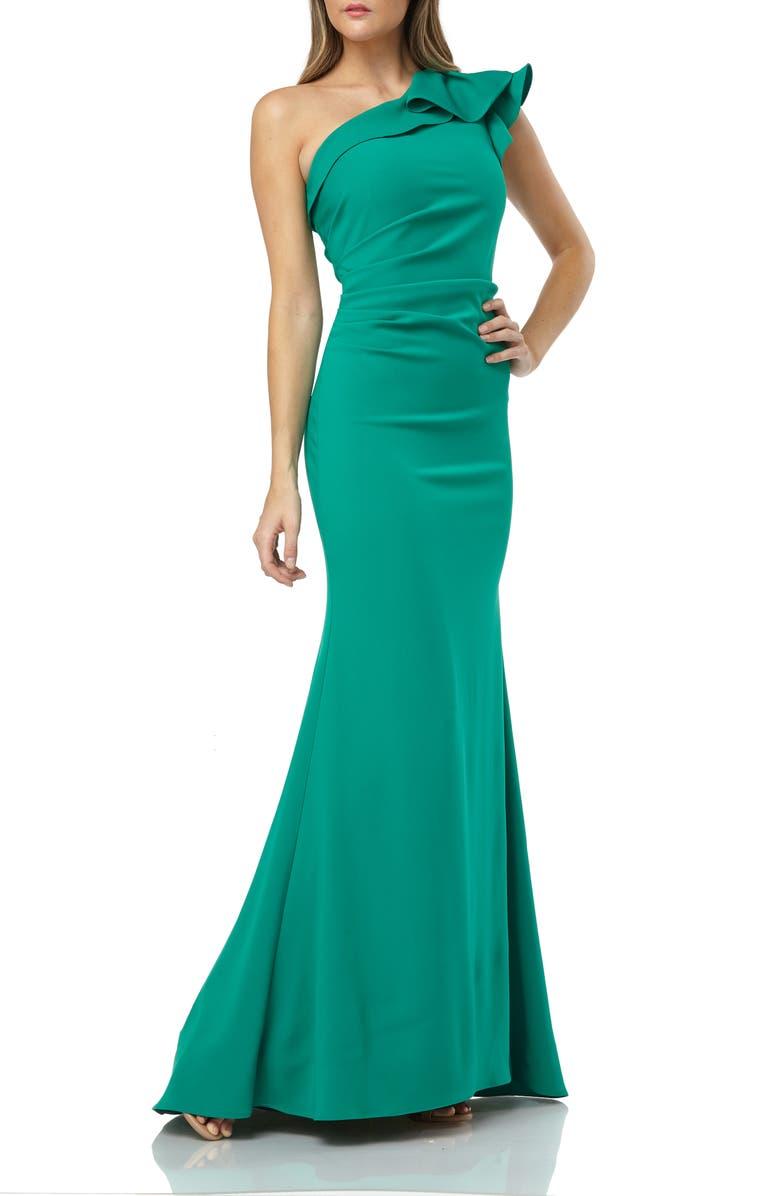 CARMEN MARC VALVO INFUSION One-Shoulder Gown, Main, color, 304