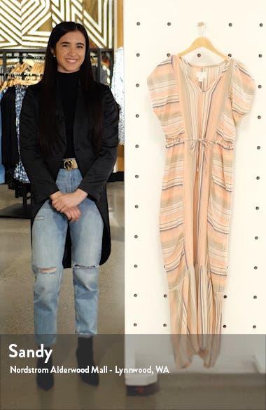 Flutter Sleeve Tie Waist Maxi Dress, sales video thumbnail