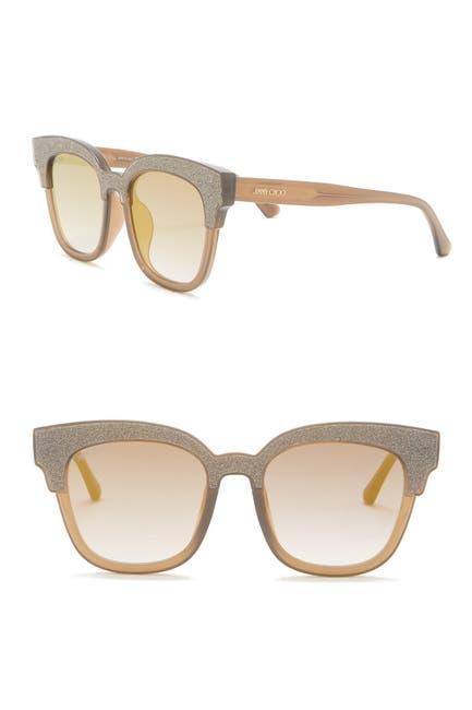 Image of Jimmy Choo Mayela 50mm Glitter Square Sunglasses