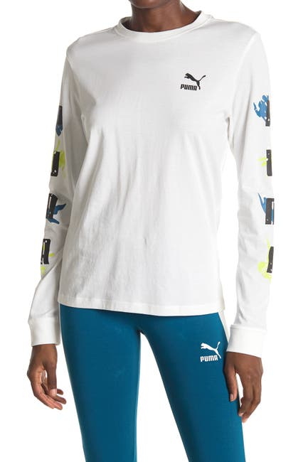 Image of PUMA Classics Long Sleeve Printed Shirt