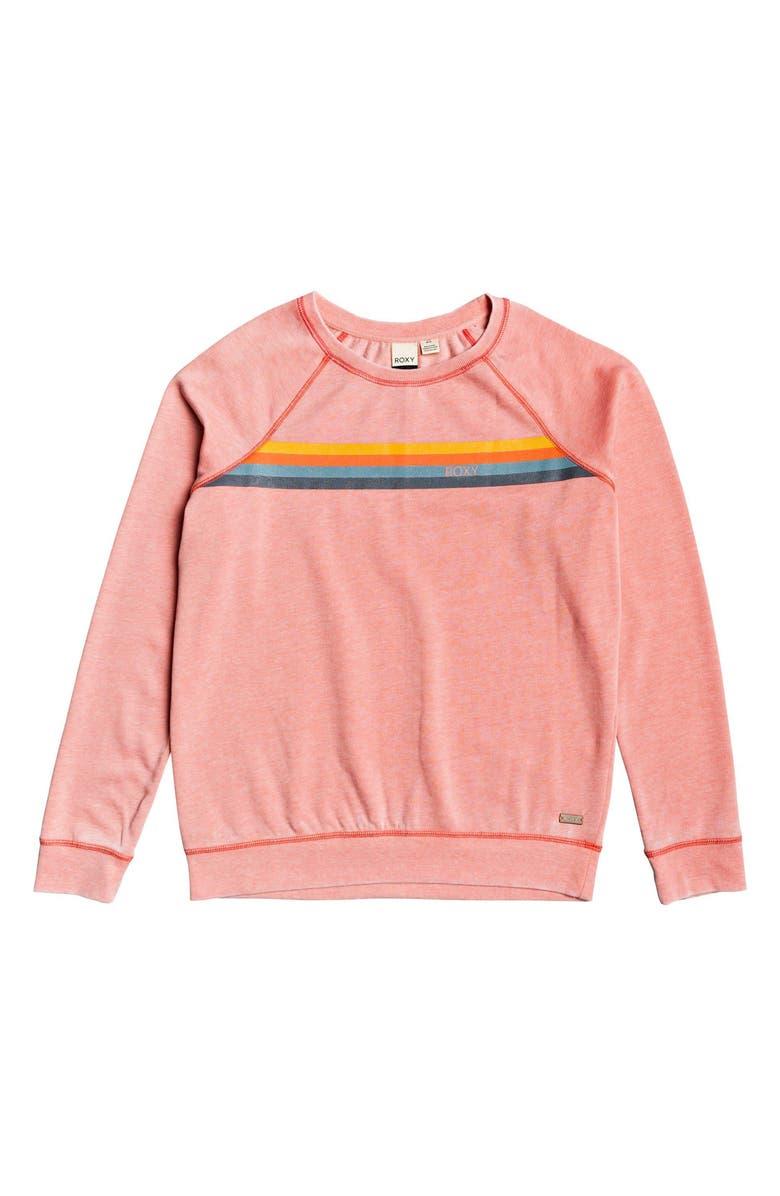 Roxy Wishing Away Stripe Sweatshirt