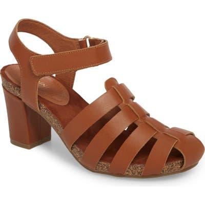 Sudini Carrara Block Heel Sandal- Brown