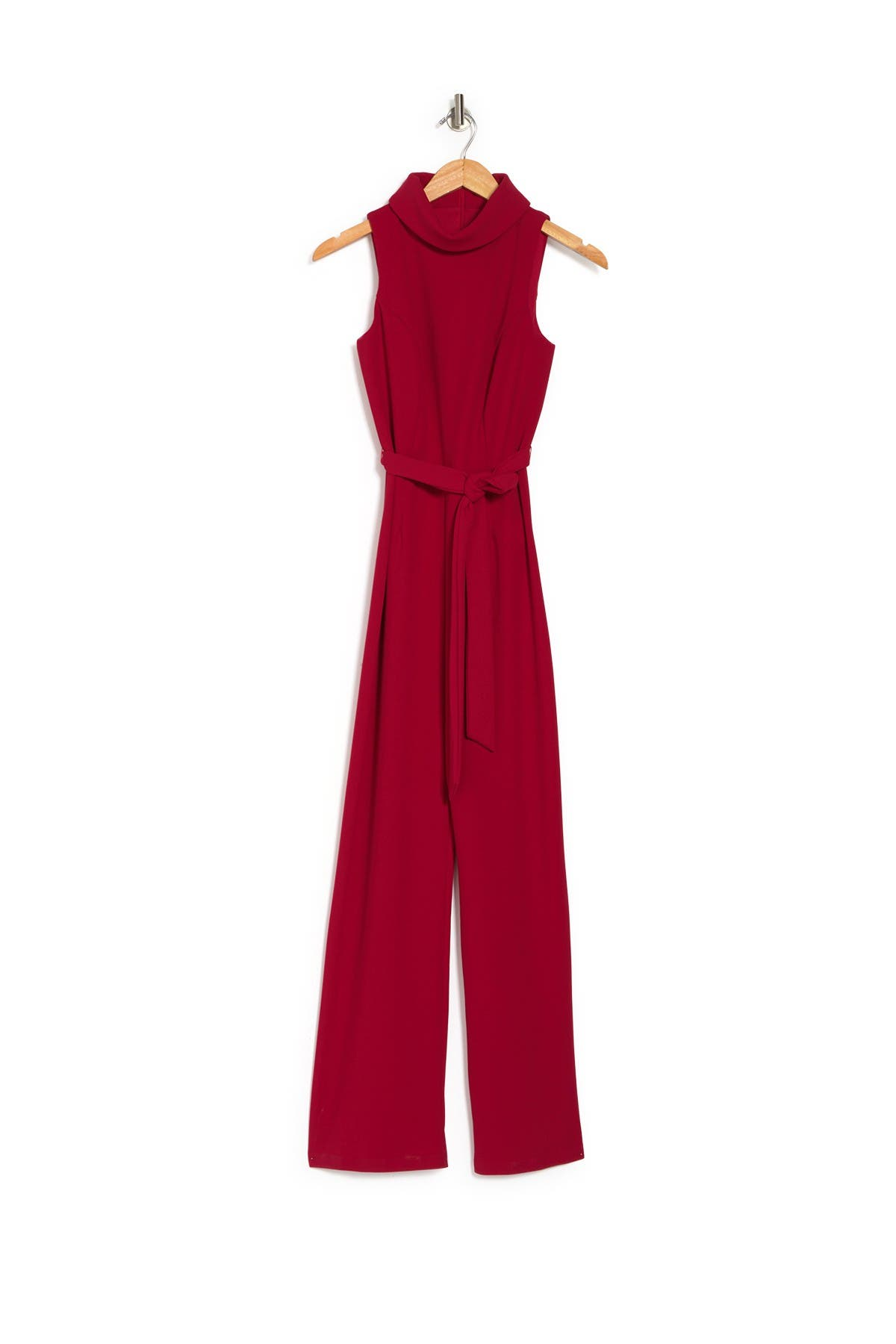Image of Marina Cowl Neck Waist Tie Jumpsuit