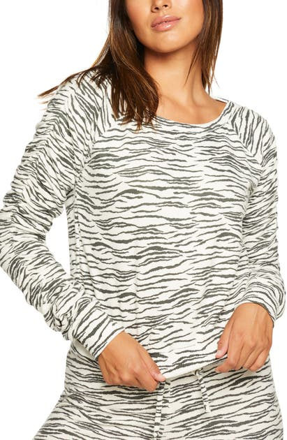 Chaser SHIRRED SLEEVE SWEATSHIRT