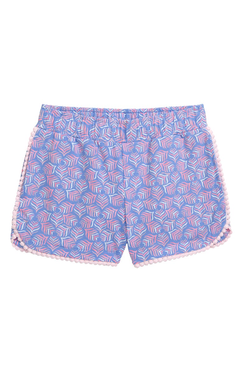 VINEYARD VINES Whaletail Tile Print Shorts, Main, color, HYDRANGEA