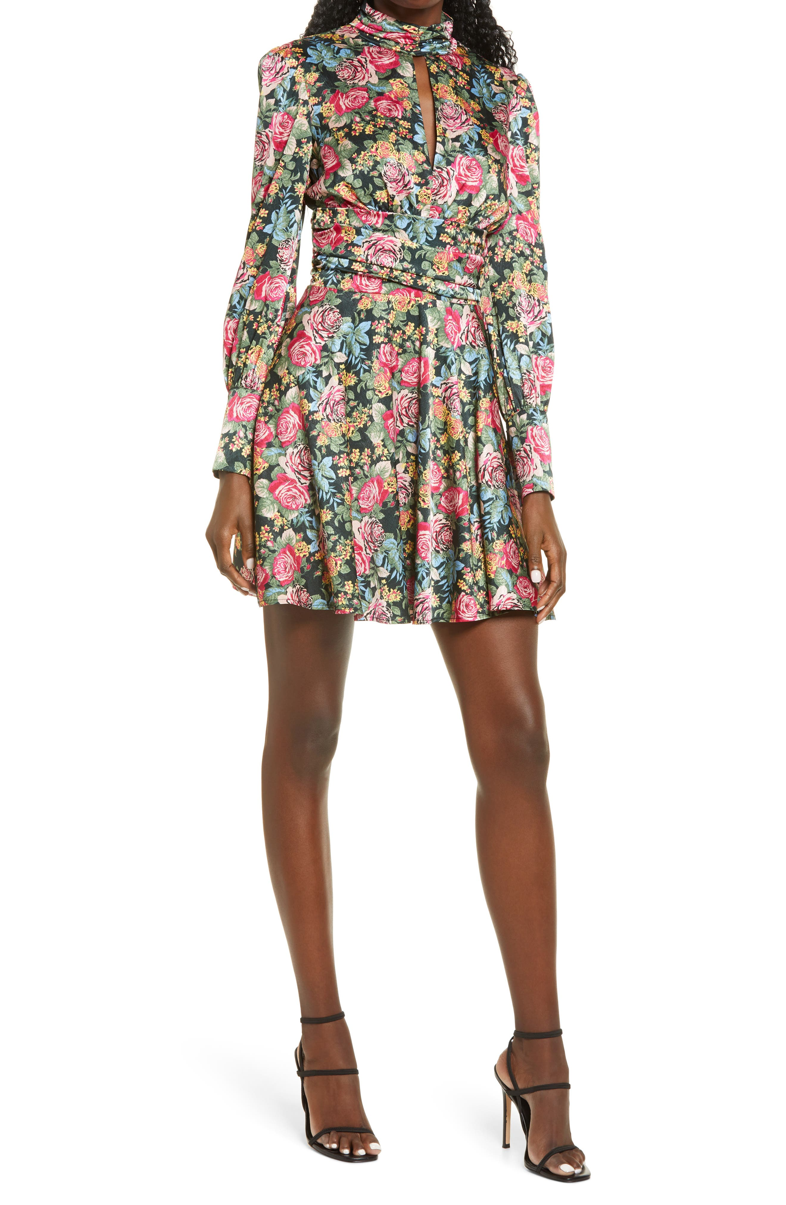 Image of WAYF Holly Long Sleeve Minidress