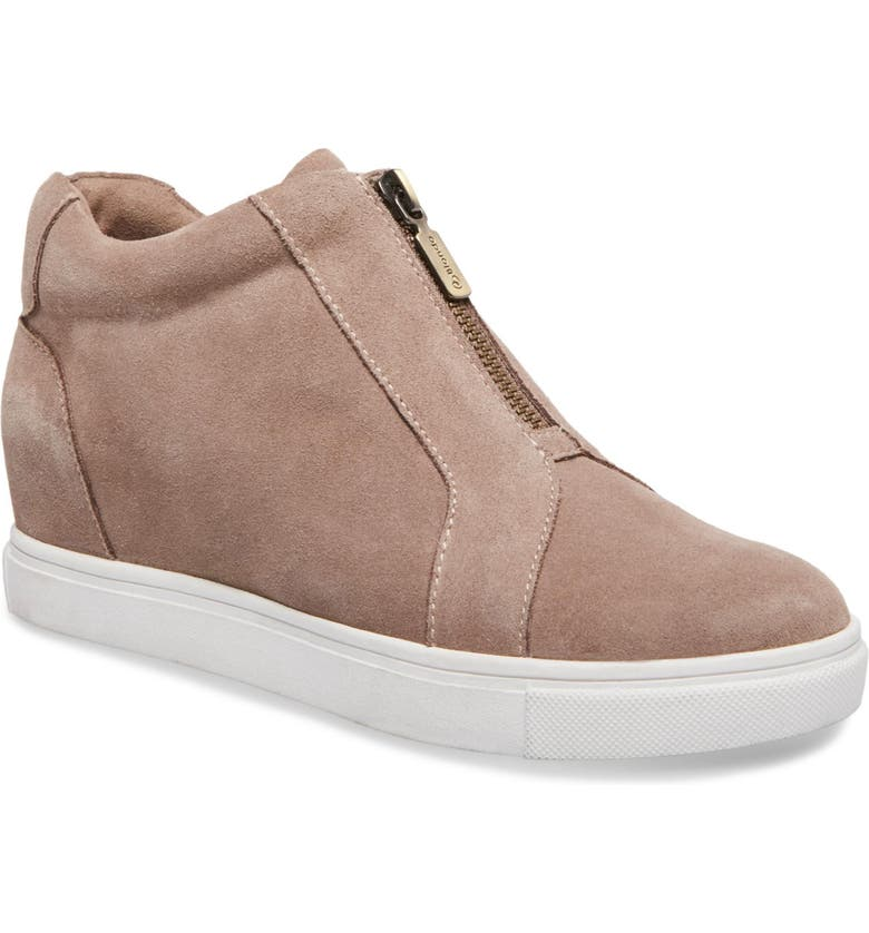 BLONDO Glenda Waterproof Sneaker Bootie, Main, color, MUSHROOM SUEDE