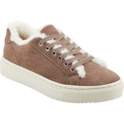 Marc Fisher Ltd Dakari Faux Fur Lined Sneaker- Green