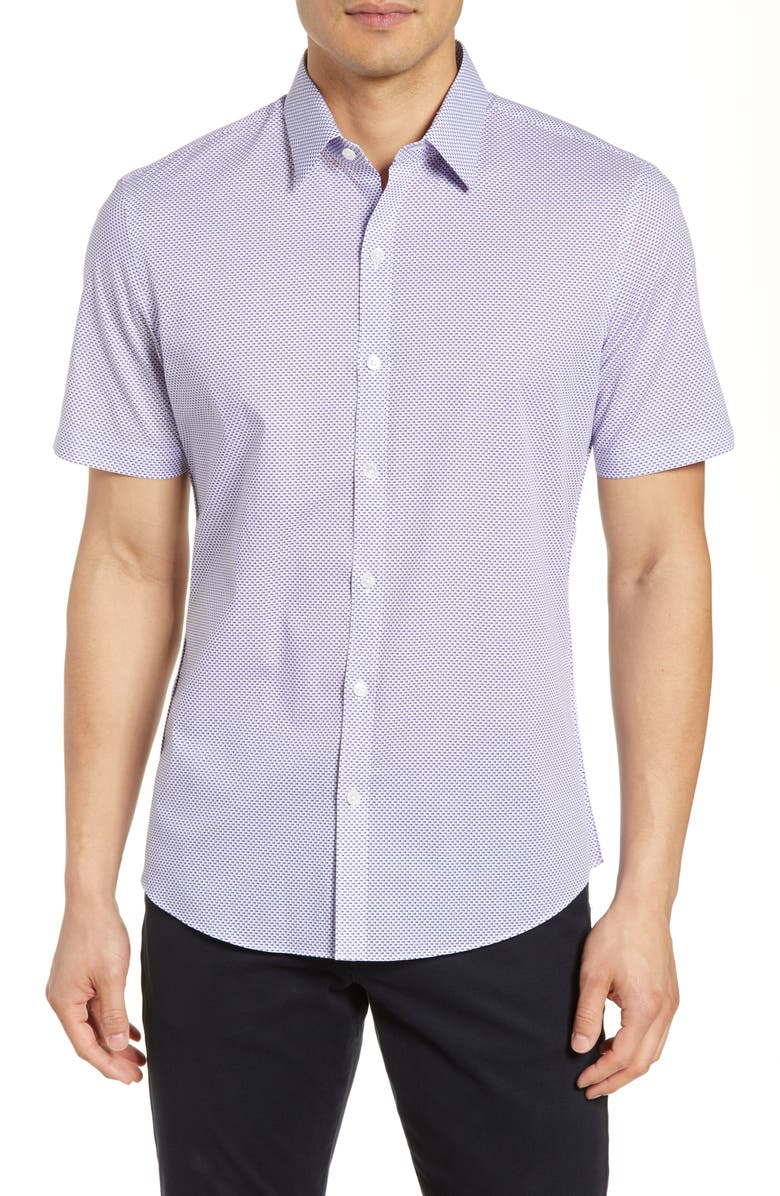 ZACHARY PRELL Rigby Regular Fit Print Shirt, Main, color, 100