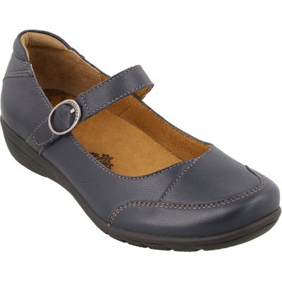 Taos Uncommon Mary Jane Flat, Blue