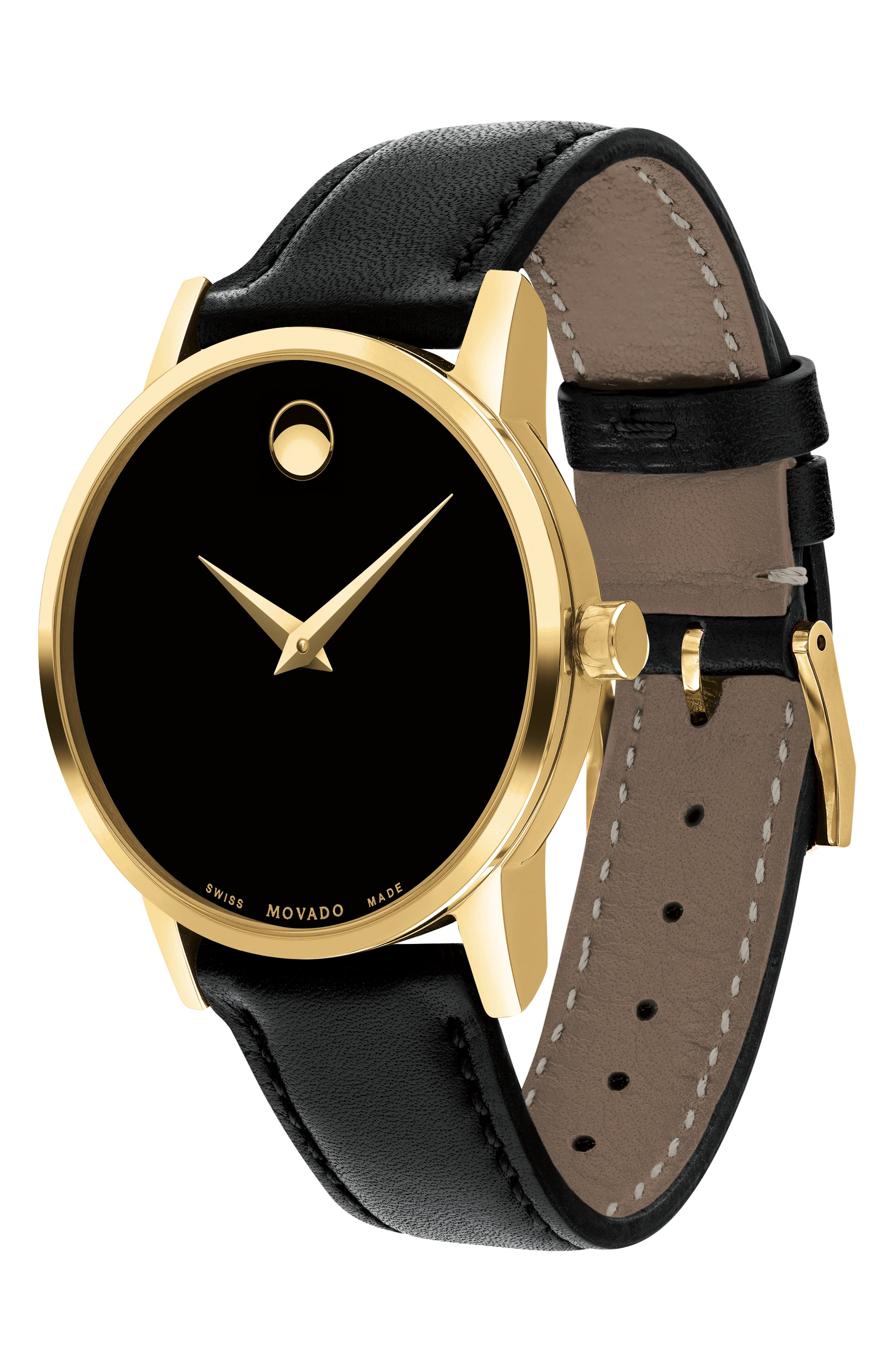 ,                             Leather Strap Watch, 28mm,                             Alternate thumbnail 4, color,                             002