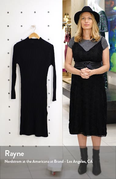 Ribbed Long Sleeve Sweater Dress, sales video thumbnail