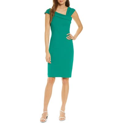 Vince Camuto Asymmetrical Neck Cocktail Dress, Green