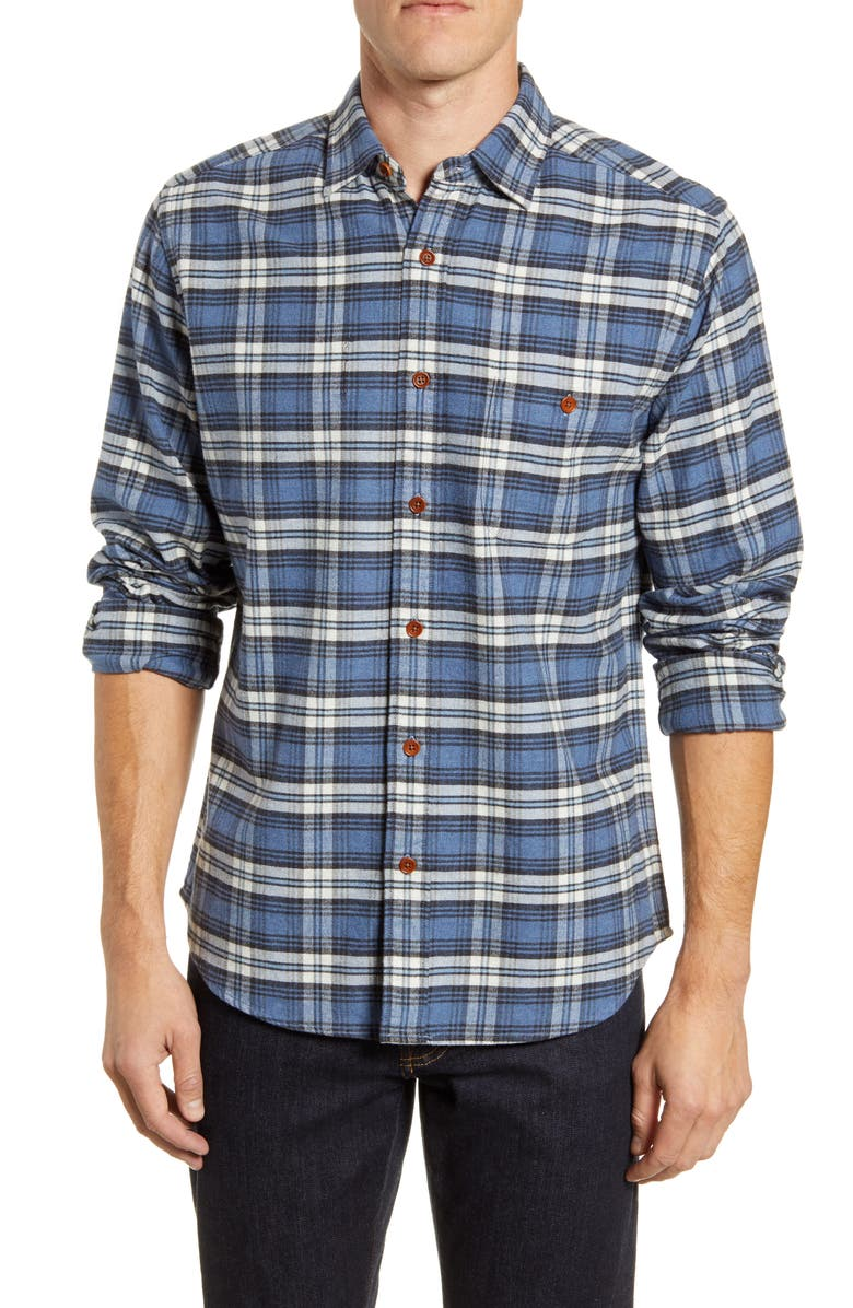 FAHERTY Seaview Long Sleeve Flannel Button-Up Shirt, Main, color, WAGONEER PLAID
